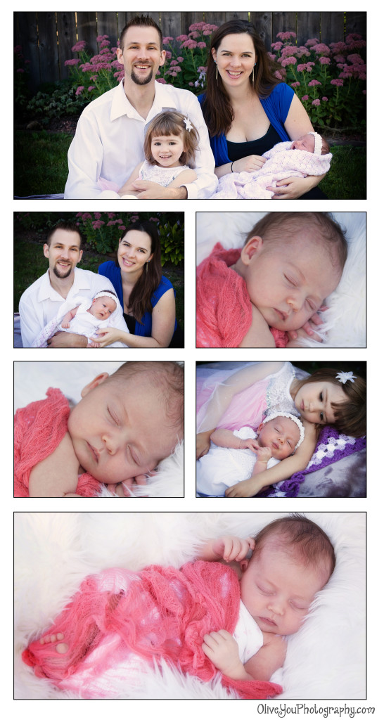 newborn portrait is back yard