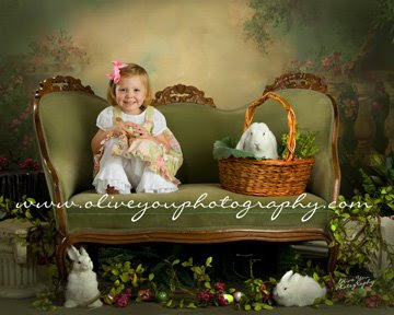 easter bunny portrait