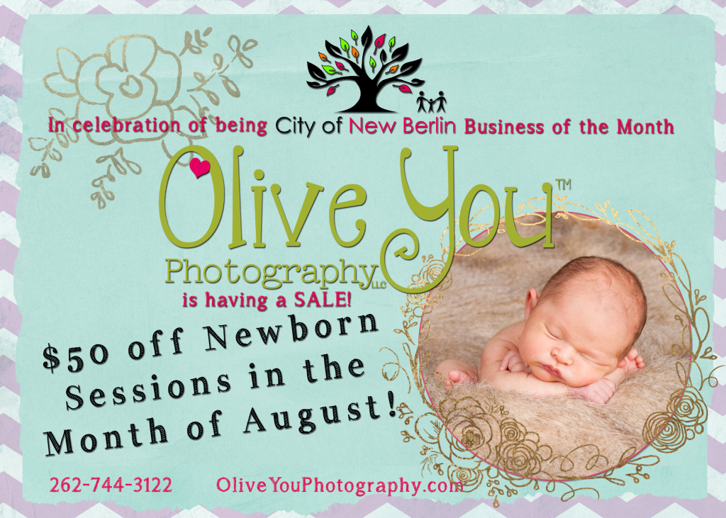 Newborn Photographer honored in City of New Berlin!
